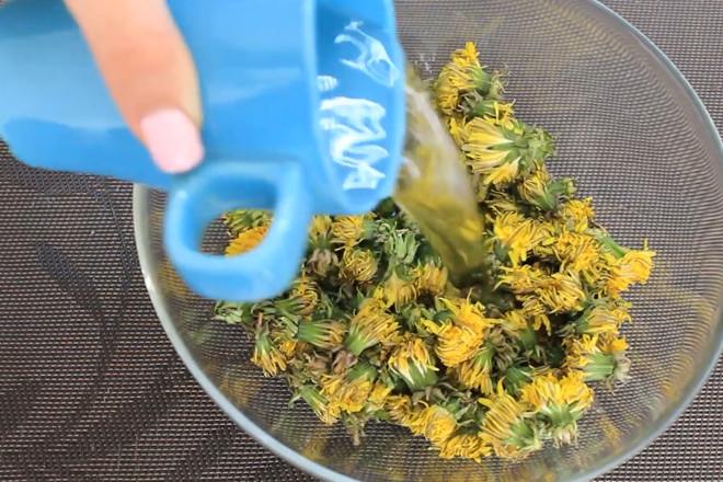 Промыть цветки