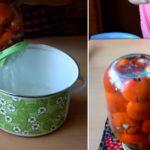 Заготовка помидоров с чесноком