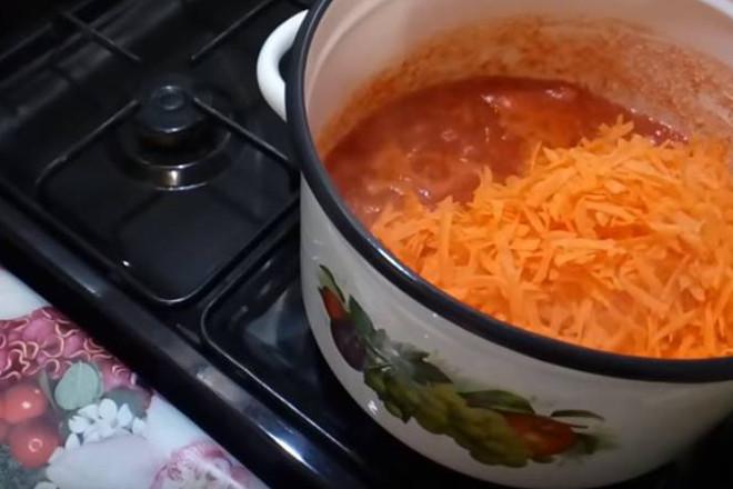 Тушение моркови